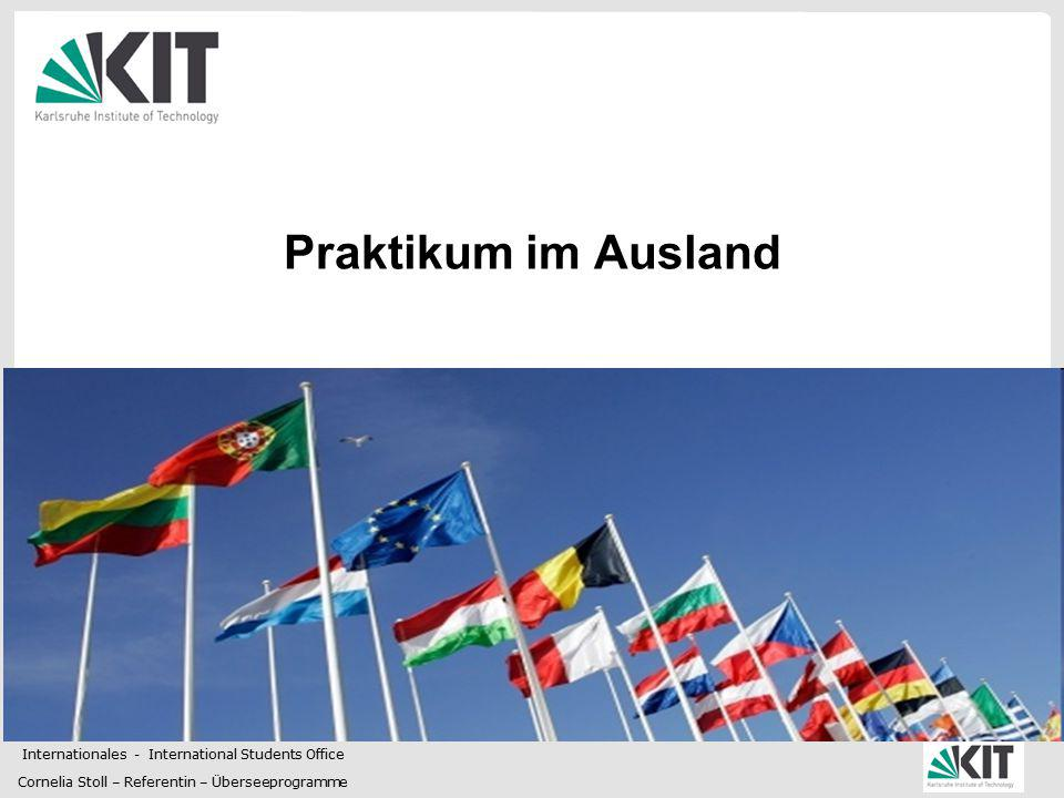 Praktikum im Ausland Internationales - International Students Office