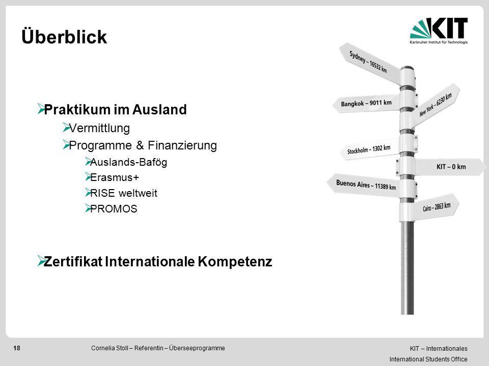 Überblick Praktikum im Ausland Zertifikat Internationale Kompetenz