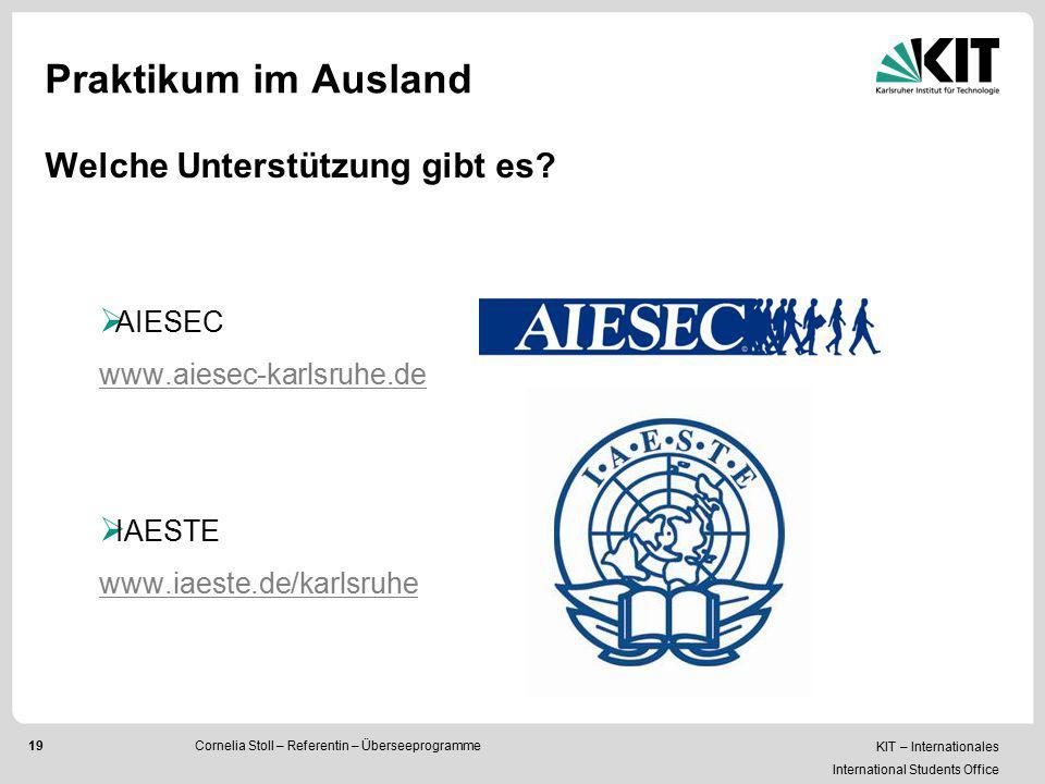 Praktikum im Ausland Welche Unterstützung gibt es AIESEC