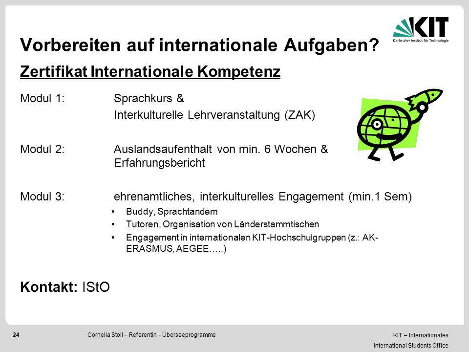 Vorbereiten auf internationale Aufgaben