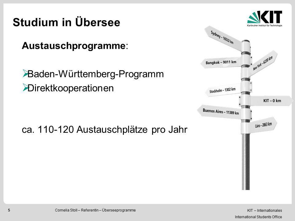 Studium in Übersee Austauschprogramme: Baden-Württemberg-Programm
