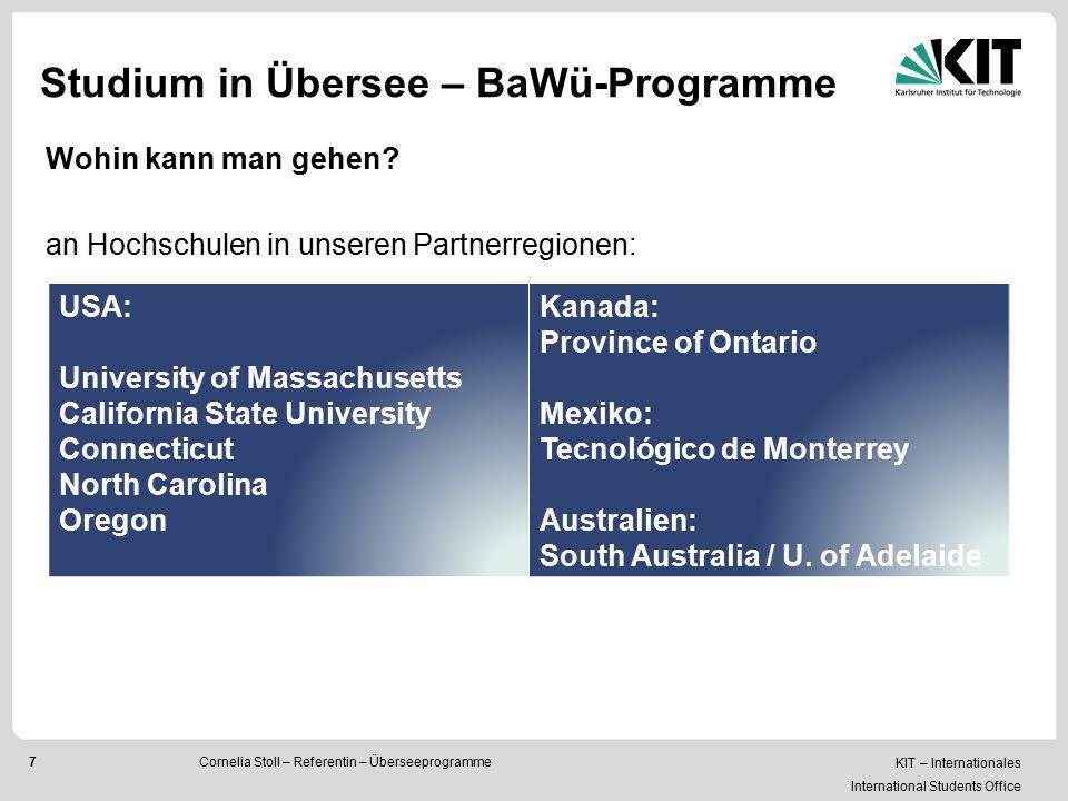 Studium in Übersee – BaWü-Programme