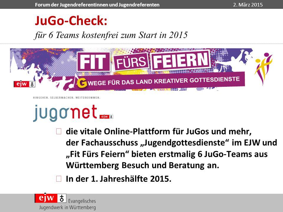 JuGo-Check: für 6 Teams kostenfrei zum Start in 2015