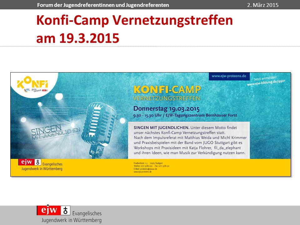 Konfi-Camp Vernetzungstreffen am 19.3.2015