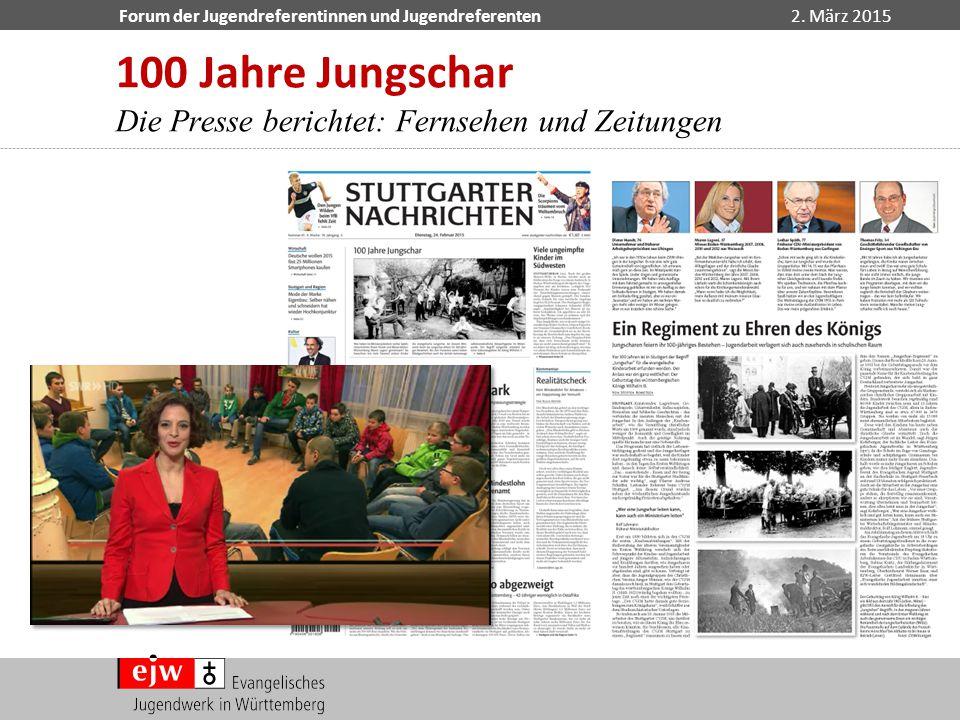 100 Jahre Jungschar Die Presse berichtet: Fernsehen und Zeitungen