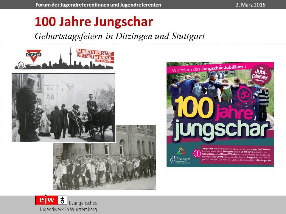 100 Jahre Jungschar Geburtstagsfeiern in Ditzingen und Stuttgart