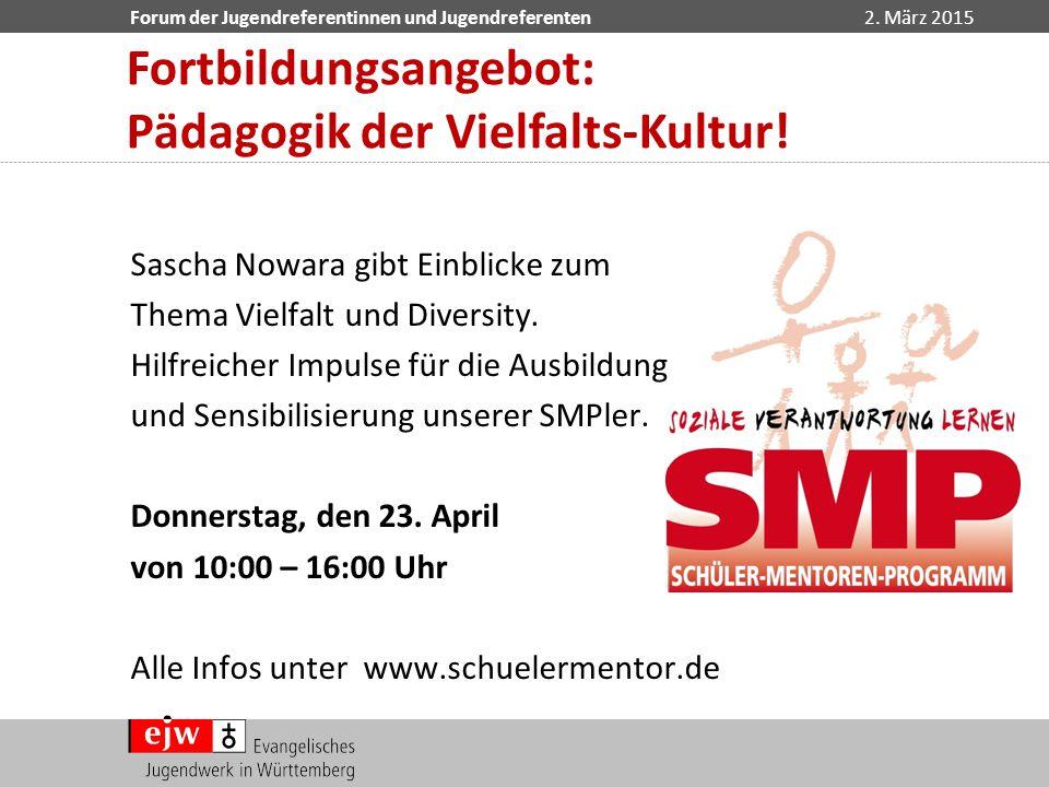 Fortbildungsangebot: Pädagogik der Vielfalts-Kultur!