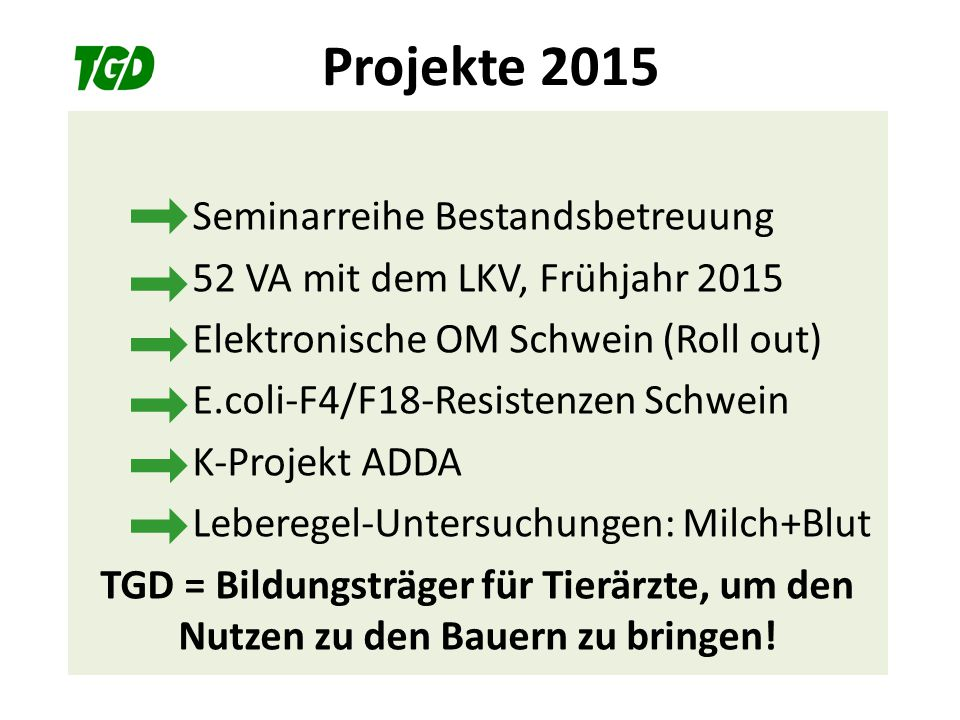Projekte 2015 Seminarreihe Bestandsbetreuung