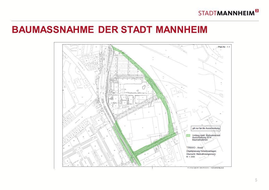 Baumassnahme der Stadt Mannheim