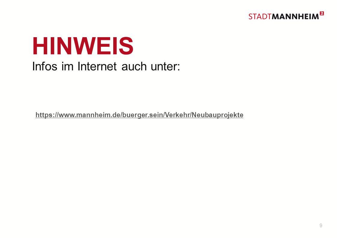 HINWEIS Infos im Internet auch unter: