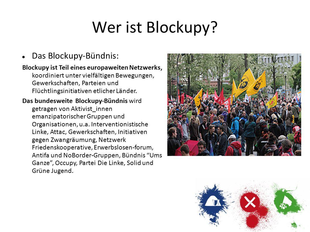 Wer ist Blockupy Das Blockupy-Bündnis: