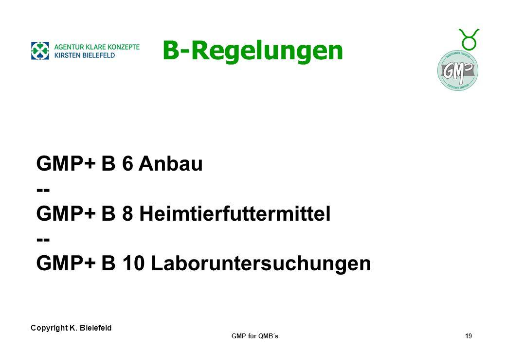 B-Regelungen GMP+ B 6 Anbau -- GMP+ B 8 Heimtierfuttermittel