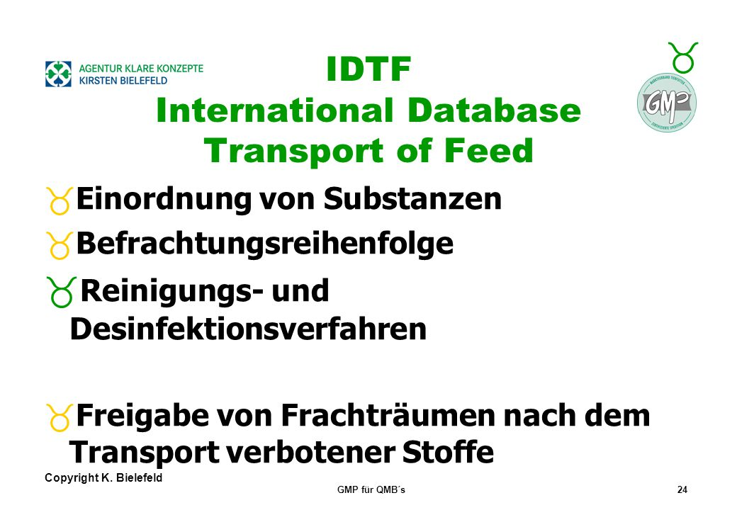 IDTF International Database Transport of Feed