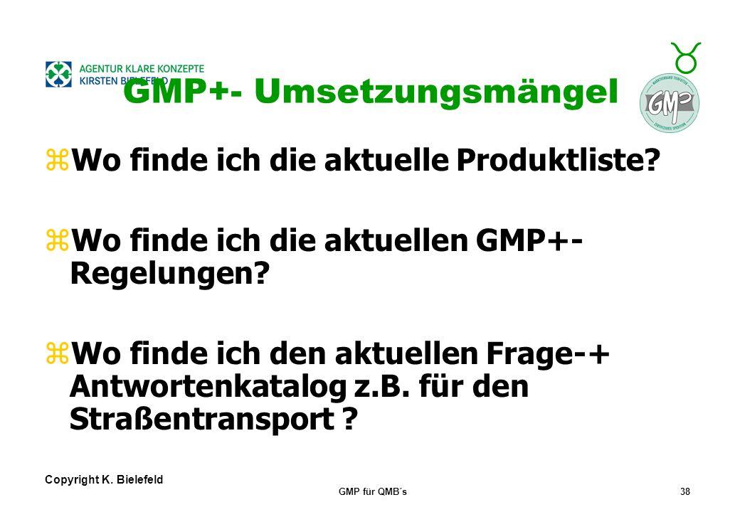 GMP+- Umsetzungsmängel