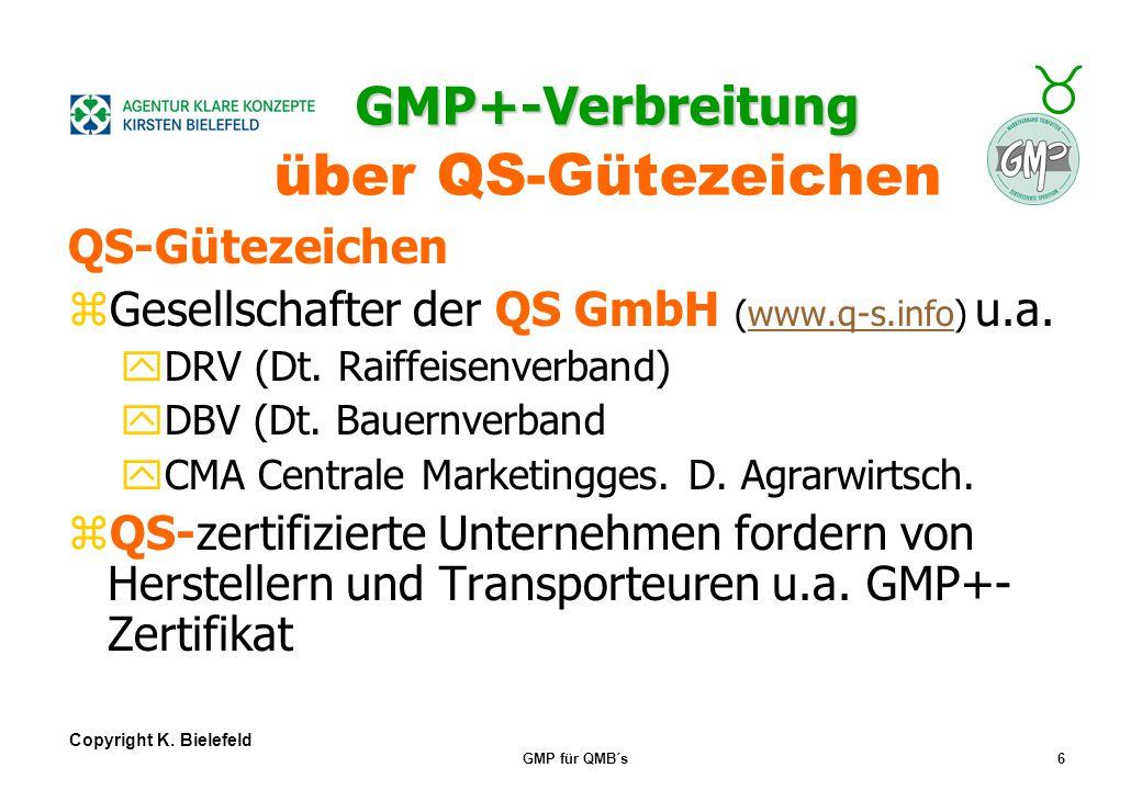 GMP+-Verbreitung über QS-Gütezeichen