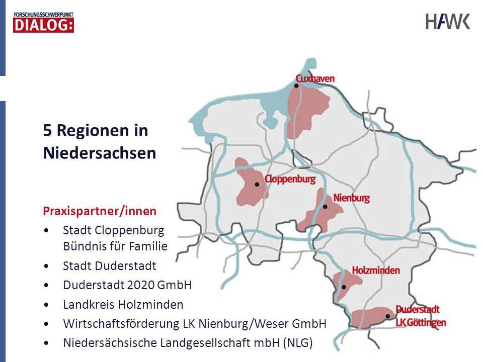 5 Regionen in Niedersachsen