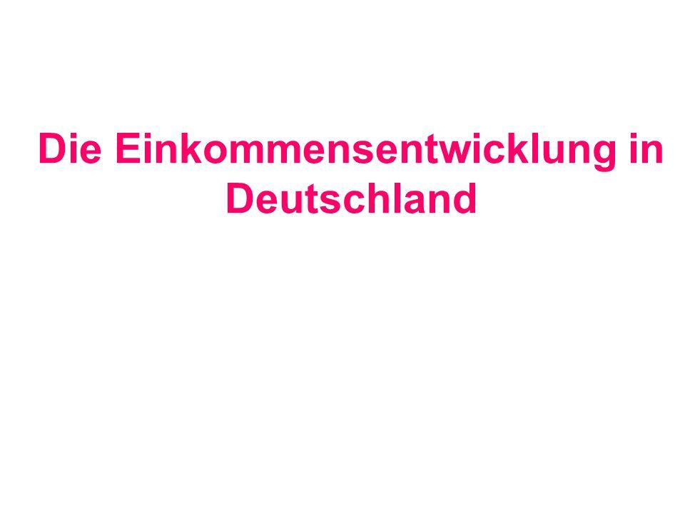 Die Einkommensentwicklung in Deutschland