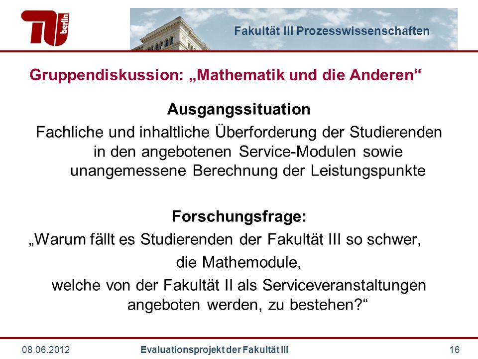 """Gruppendiskussion: """"Mathematik und die Anderen"""