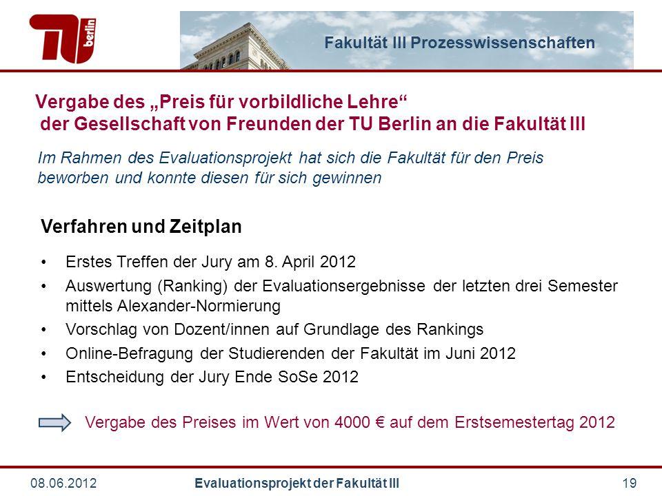 Vergabe des Preises im Wert von 4000 € auf dem Erstsemestertag 2012