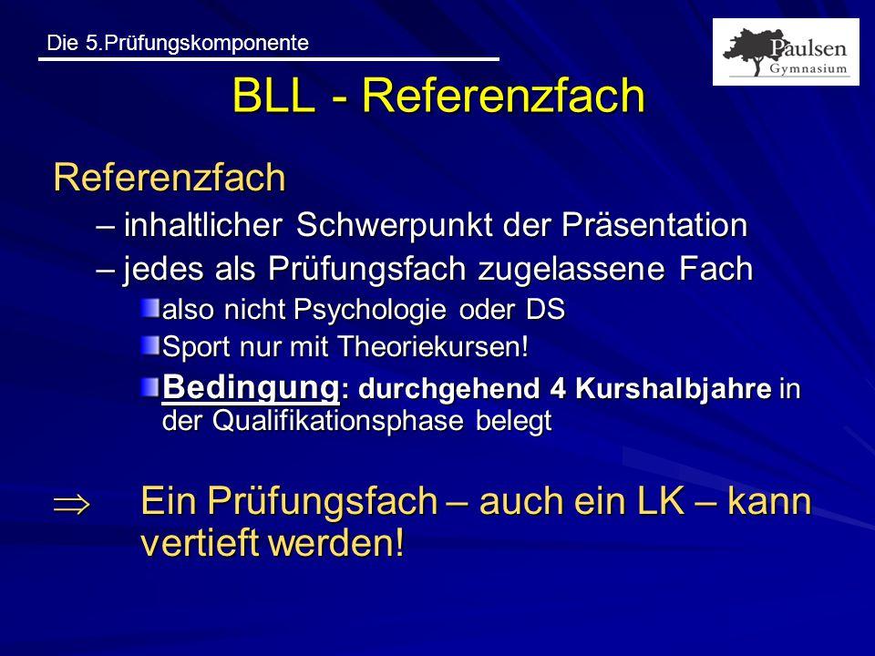 BLL - Referenzfach Referenzfach