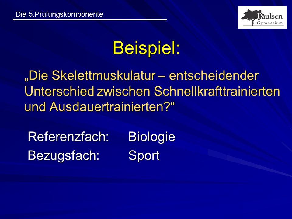 """Beispiel: """"Die Skelettmuskulatur – entscheidender Unterschied zwischen Schnellkrafttrainierten und Ausdauertrainierten"""