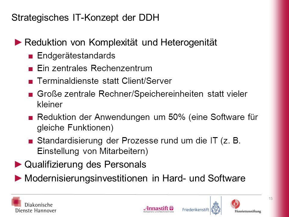 Strategisches IT-Konzept der DDH