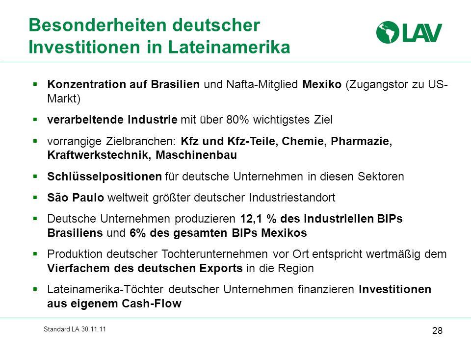 Besonderheiten deutscher Investitionen in Lateinamerika