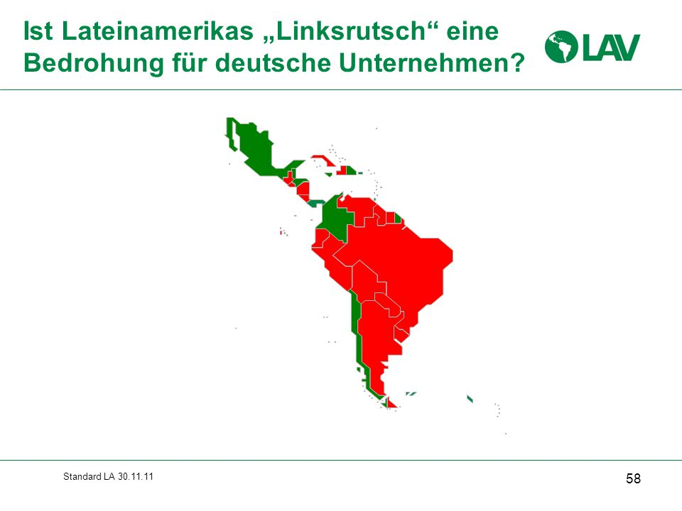"""Ist Lateinamerikas """"Linksrutsch eine Bedrohung für deutsche Unternehmen"""