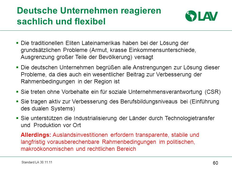 Deutsche Unternehmen reagieren sachlich und flexibel