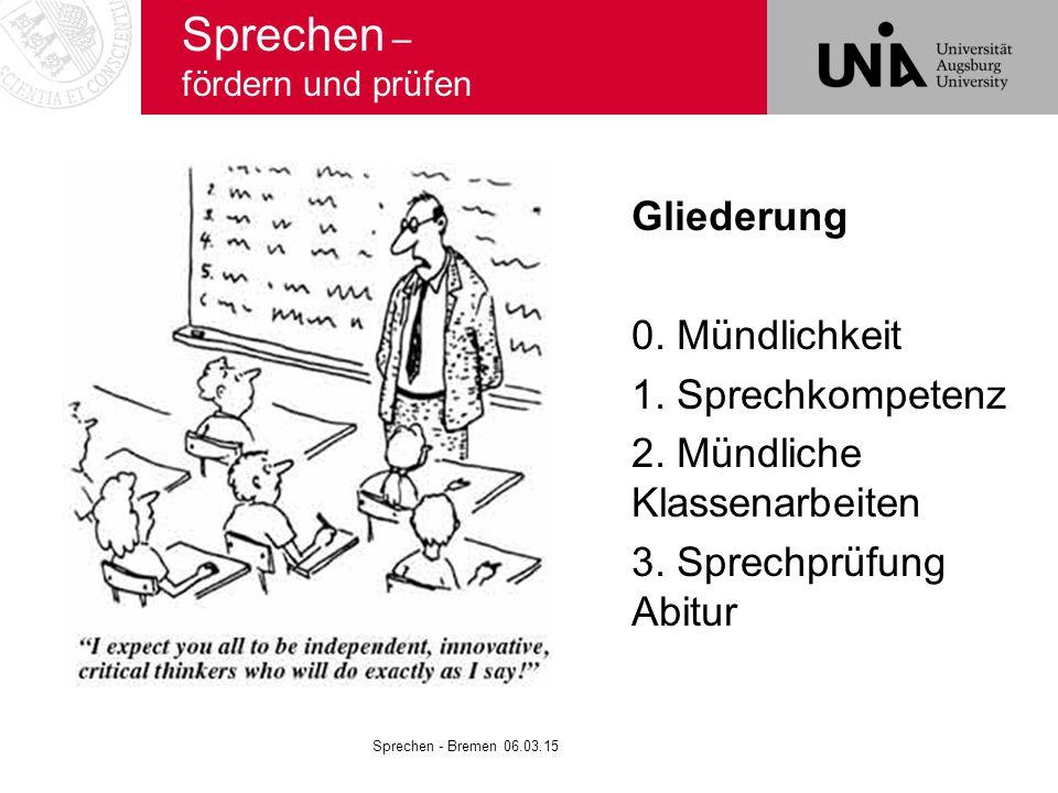Sprechen – fördern und prüfen