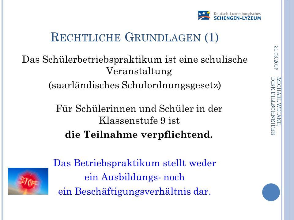 Rechtliche Grundlagen (1)