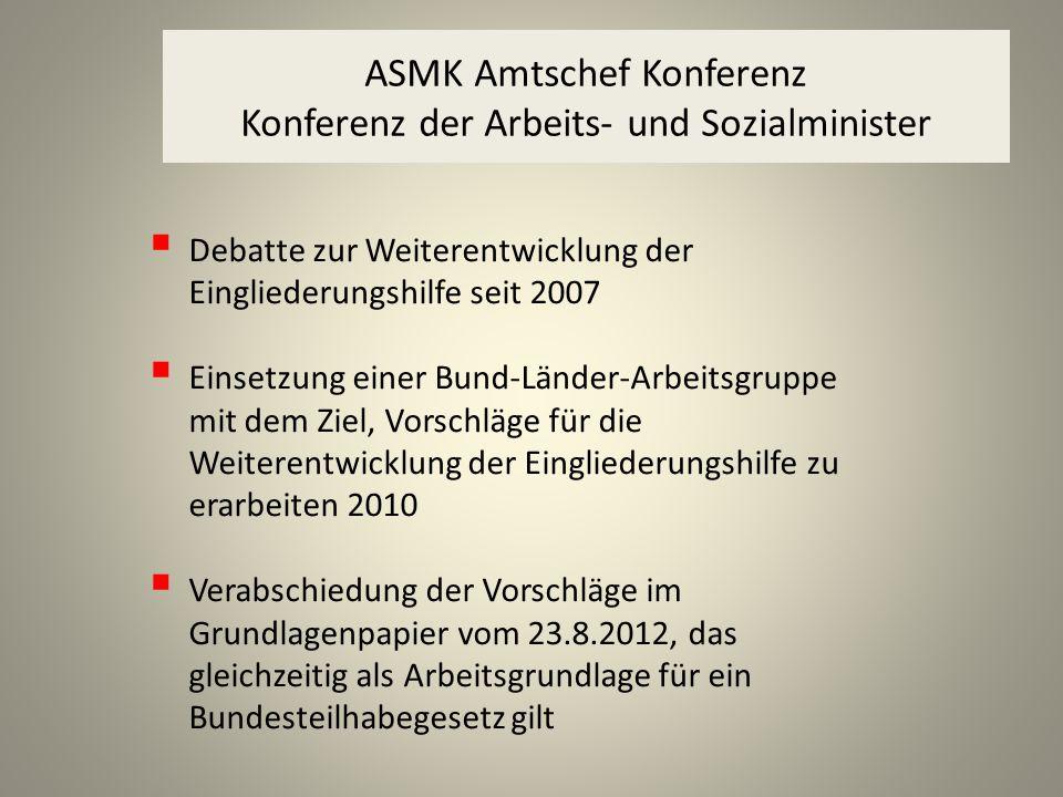 ASMK Amtschef Konferenz Konferenz der Arbeits- und Sozialminister