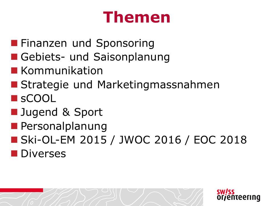 Themen Finanzen und Sponsoring Gebiets- und Saisonplanung