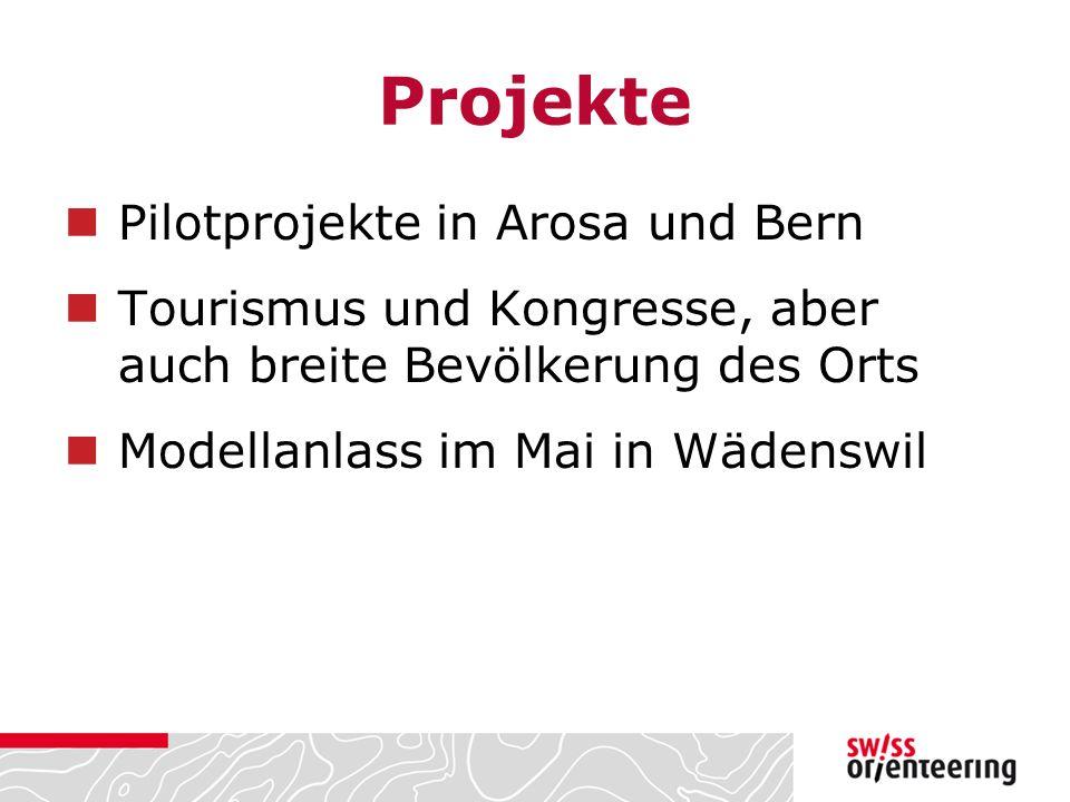 Projekte Pilotprojekte in Arosa und Bern