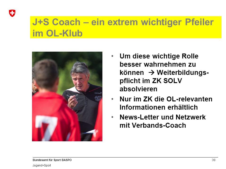 J+S Coach – ein extrem wichtiger Pfeiler im OL-Klub