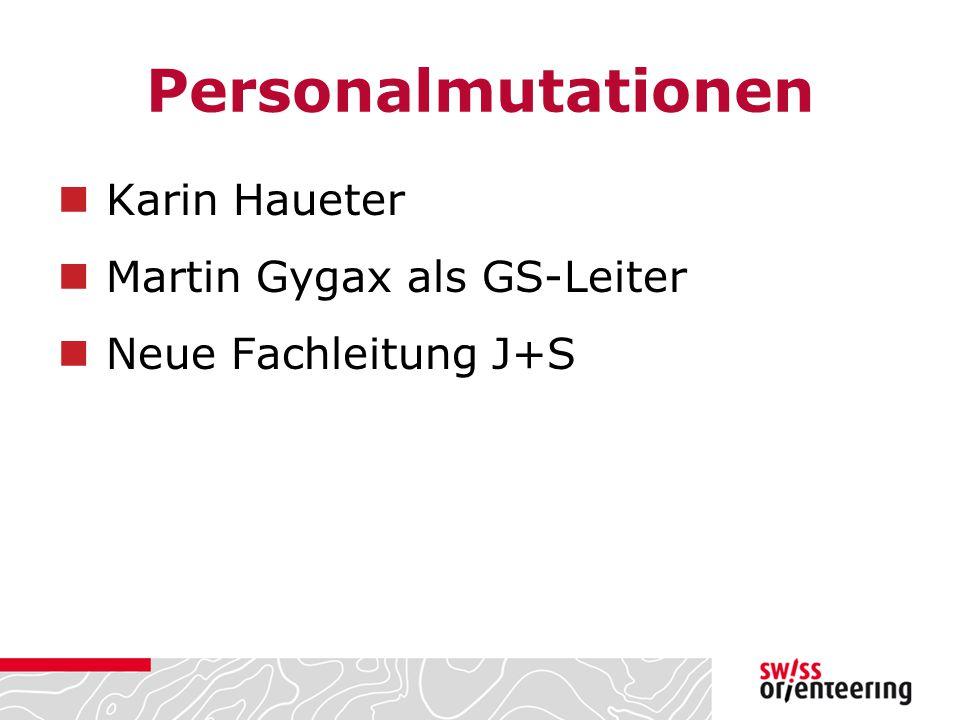 Personalmutationen Karin Haueter Martin Gygax als GS-Leiter