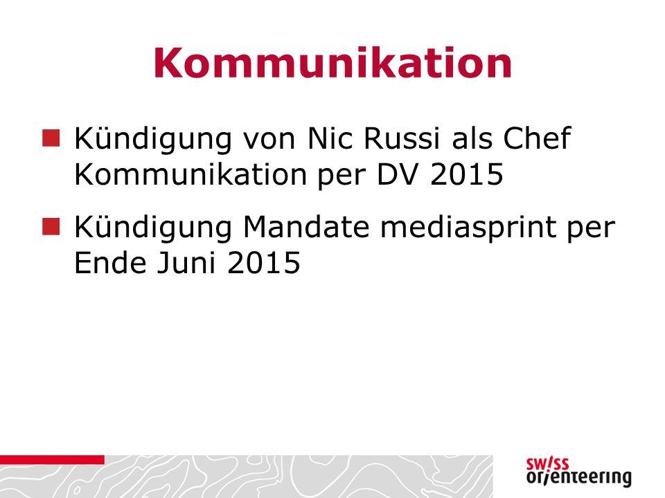 Kommunikation Kündigung von Nic Russi als Chef Kommunikation per DV 2015.