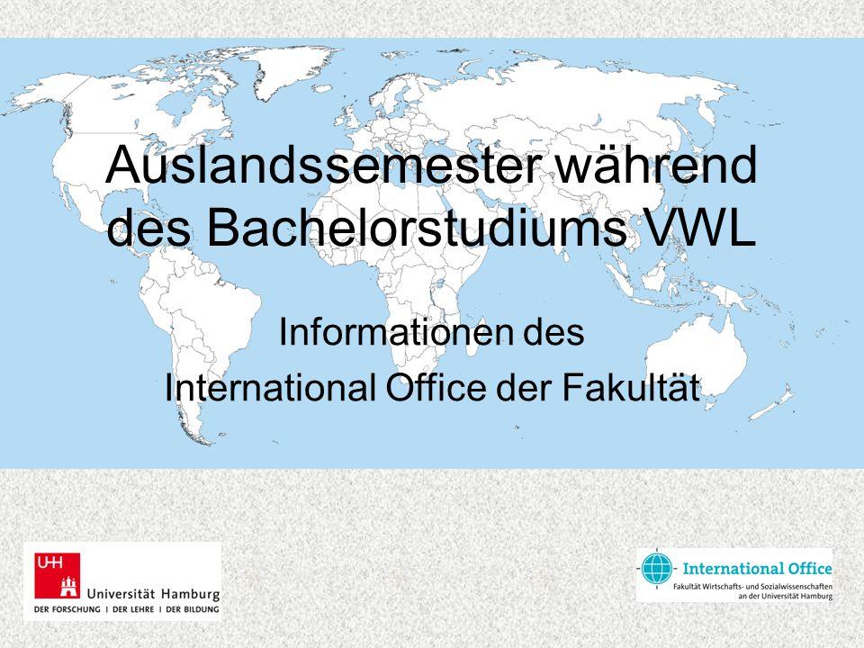 Auslandssemester während des Bachelorstudiums VWL