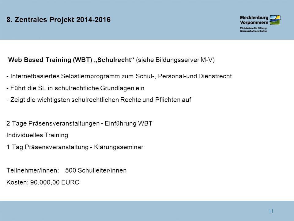 8. Zentrales Projekt 2014-2016