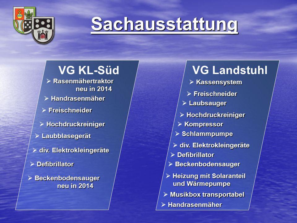 Sachausstattung VG KL-Süd VG Landstuhl Rasenmähertraktor neu in 2014
