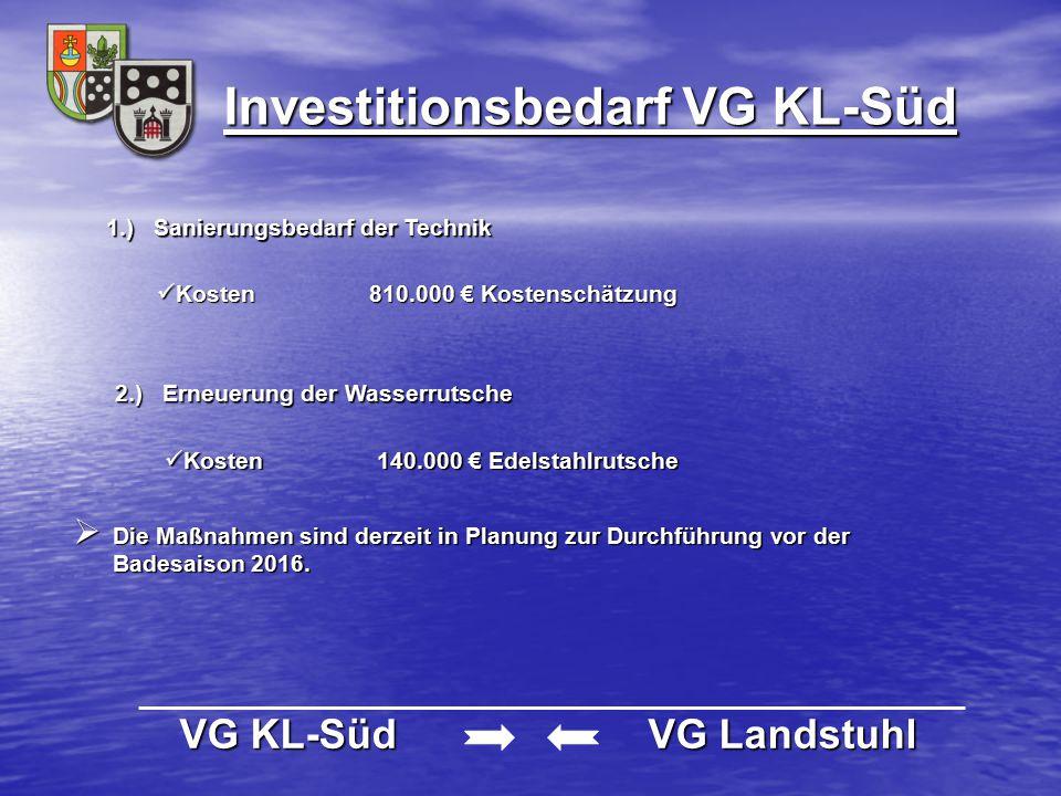 Investitionsbedarf VG KL-Süd