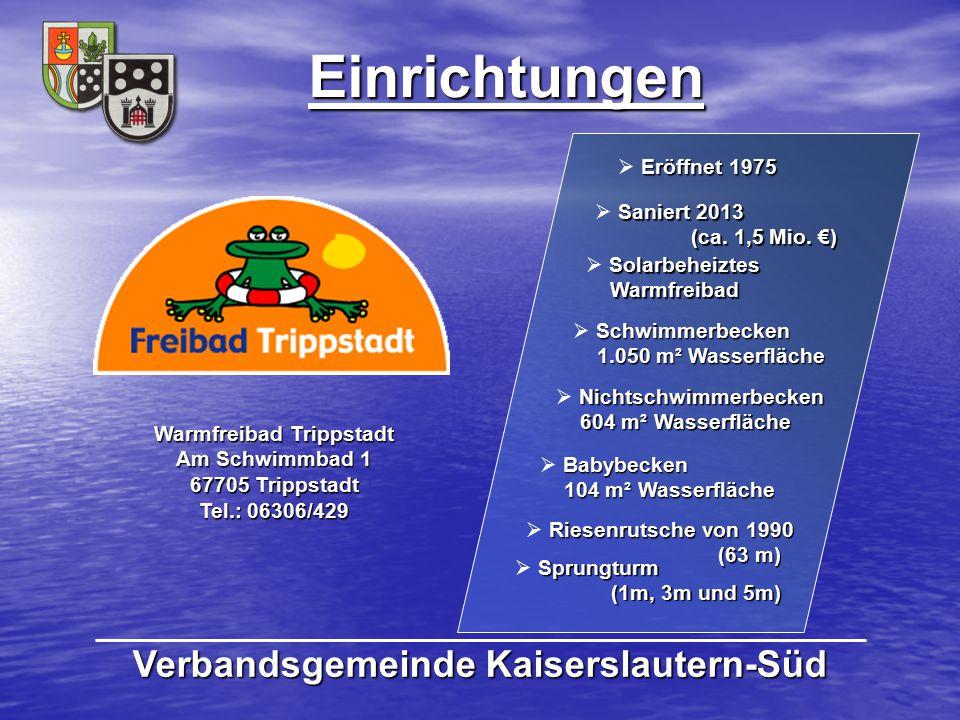 Warmfreibad Trippstadt Verbandsgemeinde Kaiserslautern-Süd