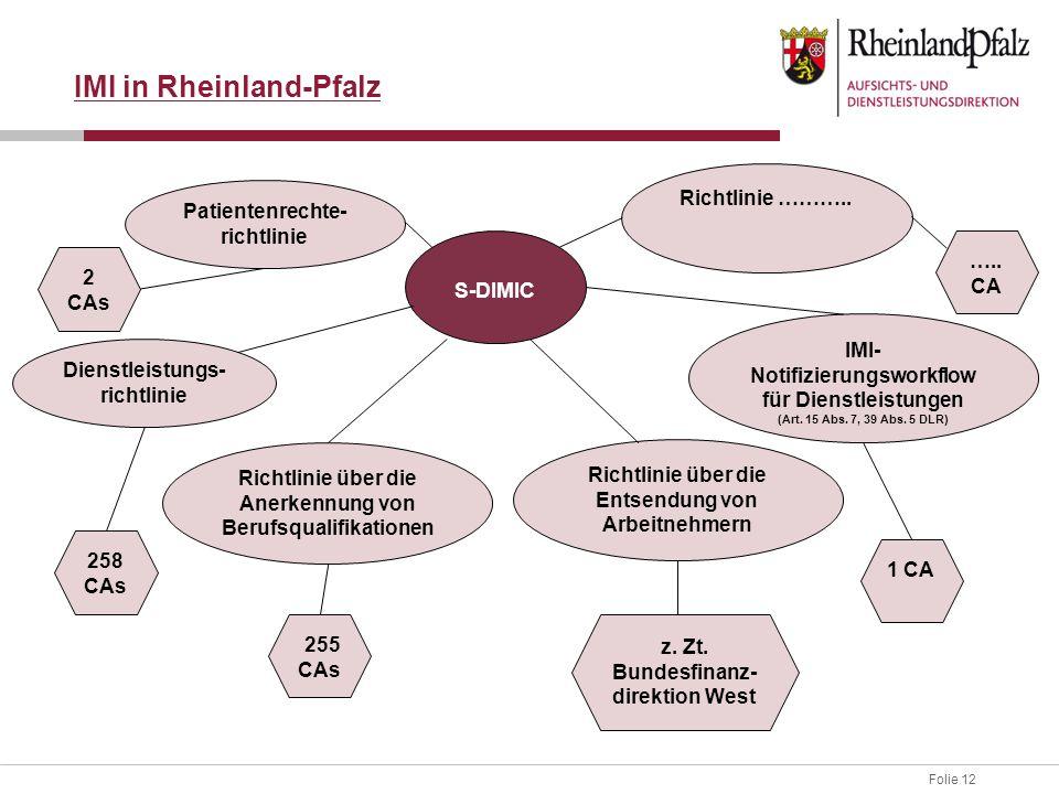 IMI in Rheinland-Pfalz