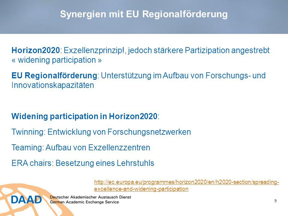 Synergien mit EU Regionalförderung