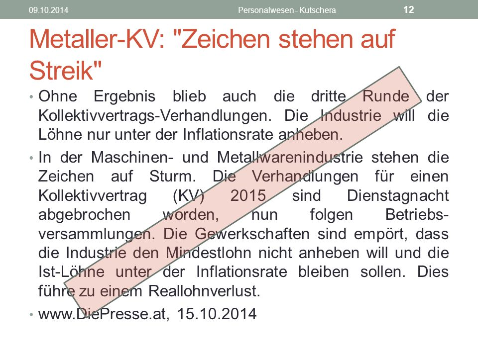 Metaller-KV: Zeichen stehen auf Streik
