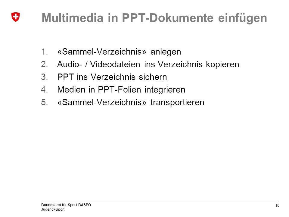 Multimedia in PPT-Dokumente einfügen