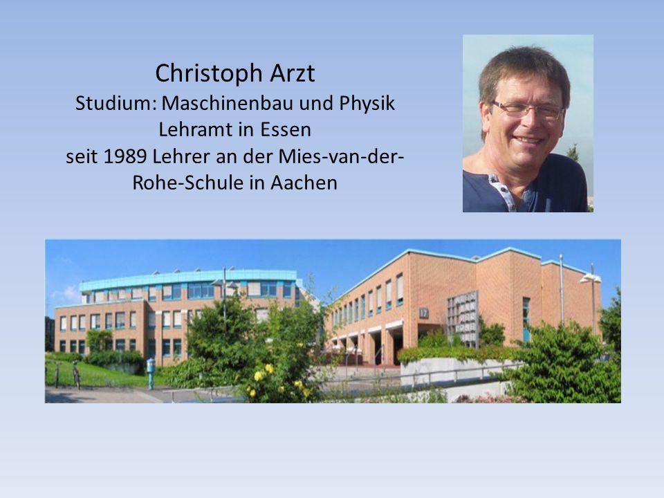 Christoph Arzt Studium Maschinenbau Und Physik Lehramt In Essen