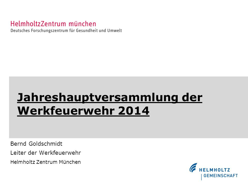 Jahreshauptversammlung der Werkfeuerwehr 2014