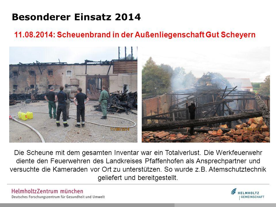 11.08.2014: Scheuenbrand in der Außenliegenschaft Gut Scheyern