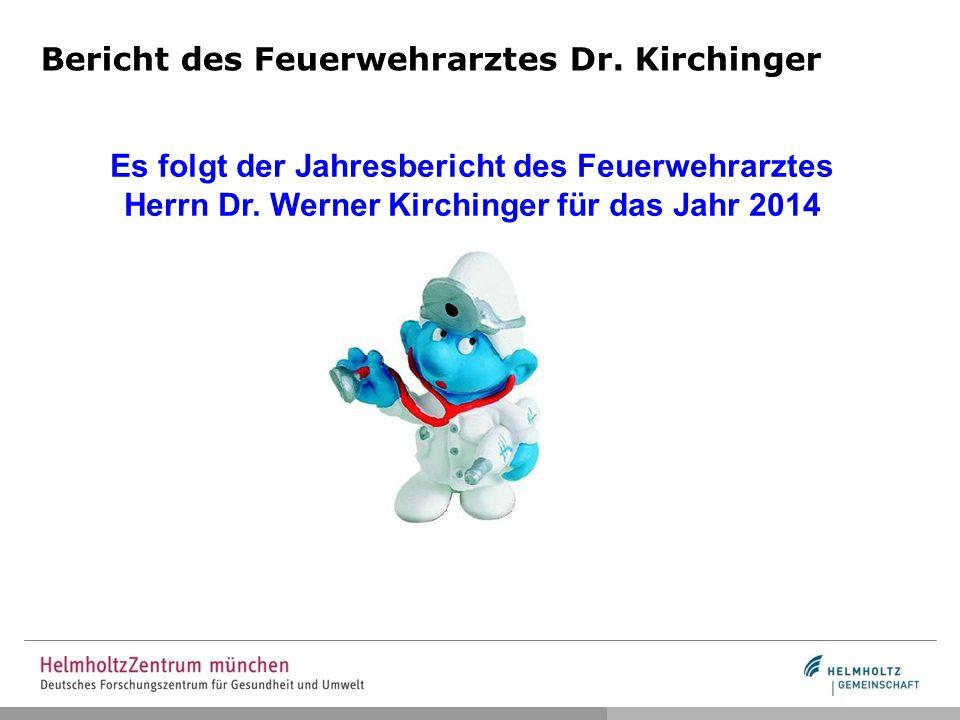 Bericht des Feuerwehrarztes Dr. Kirchinger